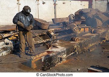 scrap metal gas welding for refining