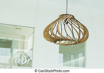 Interior, lâmpada, desenho