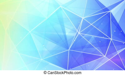 abstract triangle geometrical blue