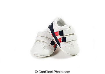 Baby shoes - Tennis Baby shoes on the white background