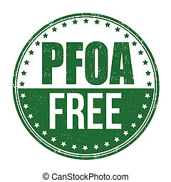 PFOA free stamp - PFOA free grunge rubber stamp on white...