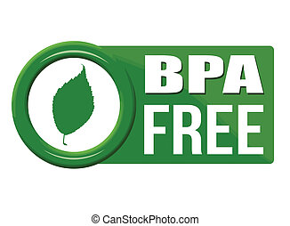 BPA free button on white background, vector illustration