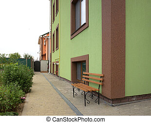 Interior courtyard of an apartment house