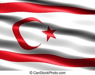 Flag of the Turkish Republic of Northern Cyprus, computer...