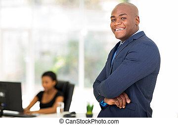 afro american businessman portrait