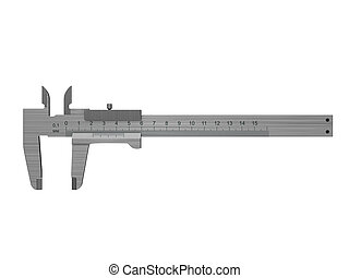 caliper - 3d illustration of caliper isolated over white...