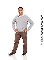 middle aged man - happy middle aged man posing on white...
