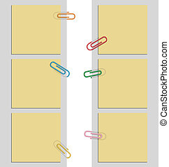 nine post it notes and clips - nine design post it notes and...