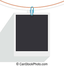 clip and photo - design of a clip holding a photo