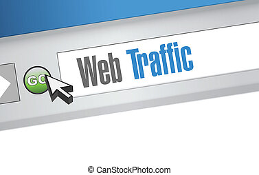 web traffic browser sign illustration