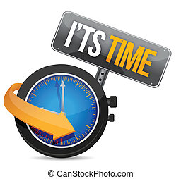 its time watch illustration design