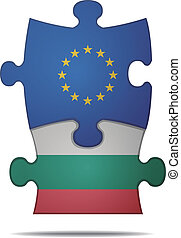 puzzle pieces europe and bulgaria - design a puzzle pieces...