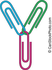 letter y with clips - illustration of y letter created with...