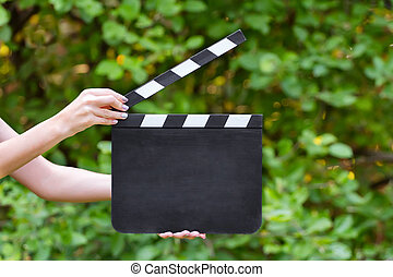 Movie production clapper board - Blank movie clapper board...