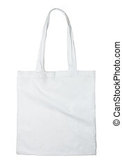 White bag - Reusable bag isolated on white background