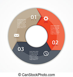 Vector circle arrows infographic diagram 3 options - Vector...