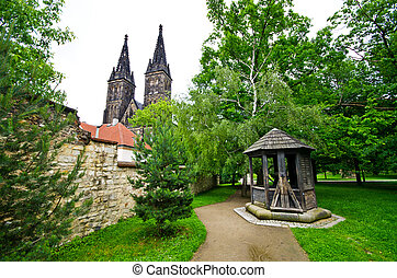 Vysehrad in Prague, Czech Republic - Vysehrad in Prague -...