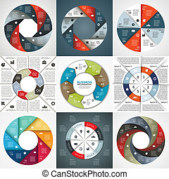 Vector circle arrows infographic diagram 8 options - Vector...