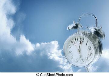 tiempo, moscas