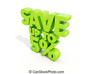 Save up to 5% - The phrase Save up to 5% on ? white...