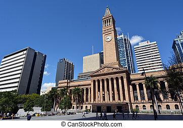 Brisbane City Hall - Queensland Australia - BRISBANE, AUS -...