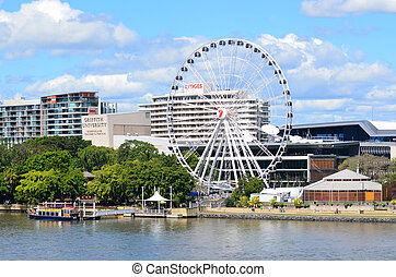 Wheel of Brisbane - Queensland Australia - BRISBANE, AUS -...