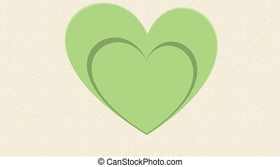 Think Green, tree on heart Animation Design, HD 1080