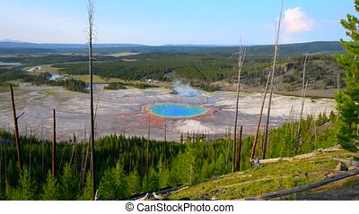 Grand Prismatic Geyser Yellowstone - Grand Prismatic as seen...