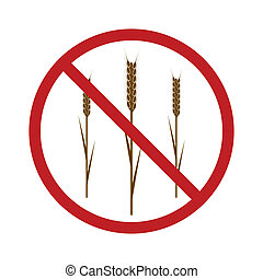 Gluten Free Icon for your design. EPS10 vector image.