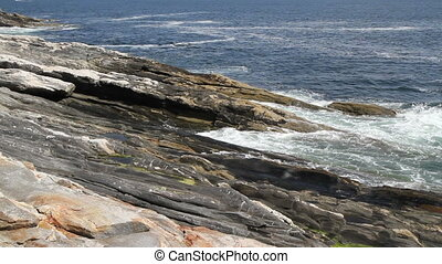 Rocky Sea Shore Maine USA Ten  - Rocky Sea Shore Maine USA