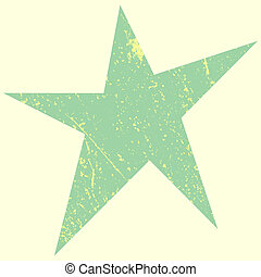 Green Scratchy Star - Distress Green Star Background for...