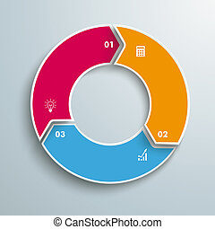 Ring 3 Options Cycle - Colored ring with 3 options on the...