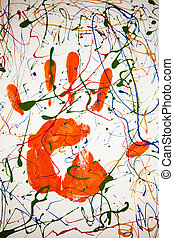 Hand prints - Multicolored hand print