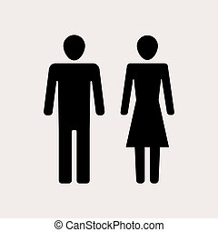 Unisex - Male And Female Silhouettes for your design. EPS10...