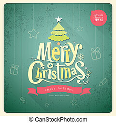 Christmas lettering, Greeting card