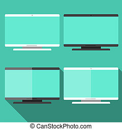 Computer in flat style