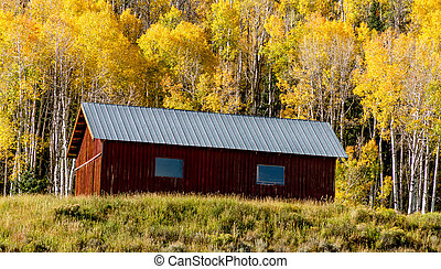 Fall in Steamboat Springs Colorado - Old historic homestead...