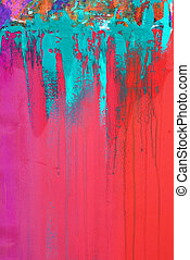 Painting - abstract acrylic painting, artwork is created and...