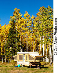 Fall in Steamboat Springs Colorado - Pop up camper trailer...