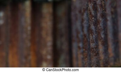 old machine part - close up on some old rusty machine parts...