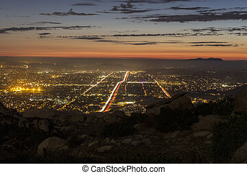 Simi Valley California Mountain View - View of Los Angeles...