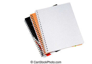 Blank spiral notebook page