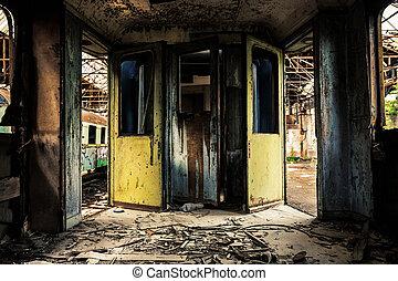 Industrial, carruagem, Interior