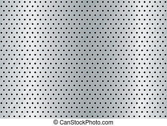 brushed metal hole background - brushed silver metal...