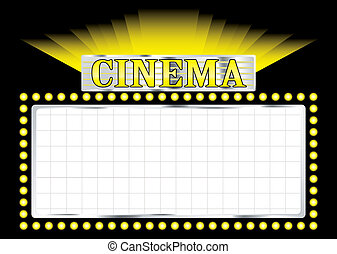 deco cinema - cinema sign concept image with room to add...