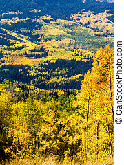 Fall in Steamboat Springs Colorado - Overlook of mountain...