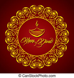 Creative Diwali greeting vector illustration