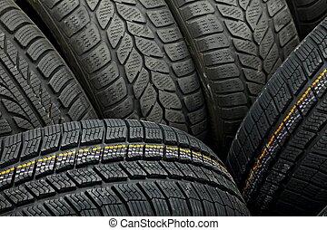 Tyres closeup - Tyre texture closeup os various patterns