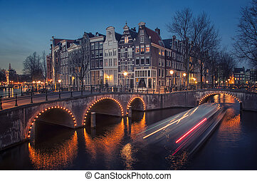 Amsterdam canals - Amsterdam, Netherlands canals and bridges...