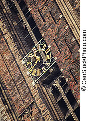 Dom Tower in Utrecht - Close view of the clock at Dom Tower...